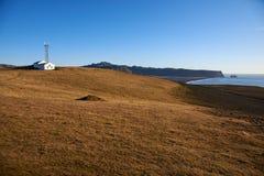 The Dyrholaey lighthouse royalty free stock photos