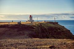 The Dyrholaey lighthouse stock photo