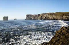 Dyrholaey natural arch Iceland Royalty Free Stock Photography