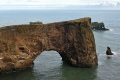Dyrholaey peninsula arch Royalty Free Stock Photo