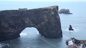 Dyrholaey peninsula arch stock video footage