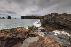 Dyrholaey peninsula Iceland royalty free stock photo