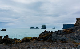 Dyrholaey small peninsula, located on the south coast of Iceland. Dyrholaey small peninsula, or promontory located on the south coast near the village Vik in royalty free stock photo