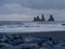 Dyrholaey, vik, iceland. View of Dyrholaey arch Iceland Stock Photos