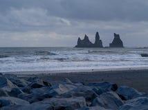 Dyrholaey, vik, Islande Photos stock