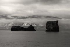 Dyrholay schaukelt Island stockfoto