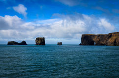 Dyrholeay ocean cliffs, Iceland Royalty Free Stock Image