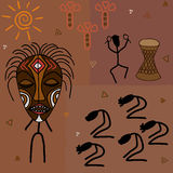 dyrkan royaltyfri illustrationer