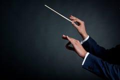 dyrygenta samiec orkiestra Obraz Royalty Free