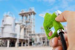 dysa för holding för ecobränslehand royaltyfria foton