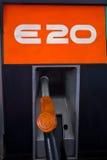 Dysa för pump för gas E20. Arkivbild
