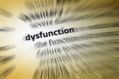 Dysfunction arkivfoto