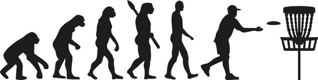Dysk golfowa ewolucja royalty ilustracja