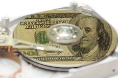 dysk twardy ciężkiego pieniądze odbicie my Zdjęcia Stock