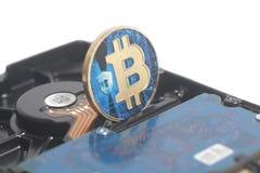 Dysk Twardy przejażdżka z Bitcoin fotografia stock