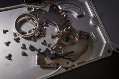 Dysk twardy złomowe elektronika zdjęcia royalty free