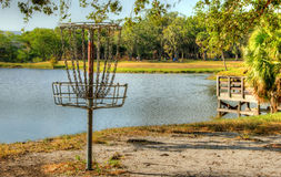 Dyska golf przy falezy Stephens parkiem Obraz Royalty Free