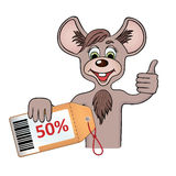 Dyskontowa mysz Zdjęcia Stock