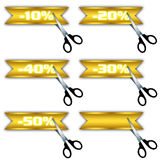dyskontowe ikony oferują sprzedaży dodatek specjalny Fotografia Stock