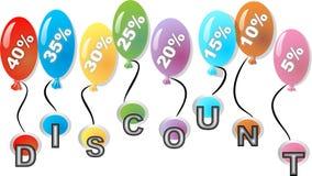 Dyskontowe piłki z procent etykietką Zdjęcia Stock