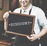 Dyskontowej konsumeryzm ceny Promocyjny Graficzny pojęcie fotografia stock