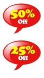 Dyskontowy ikony Specjalnej oferty znak Obraz Stock