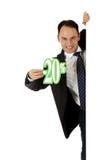 dyskontowy mężczyzna procentu znak dwadzieścia Zdjęcia Stock