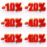 dyskontowy procent Zdjęcie Stock