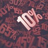 dyskontowy procent dziesięć Zdjęcia Royalty Free