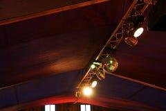 Dyskotek światła pod dachem obrazy royalty free
