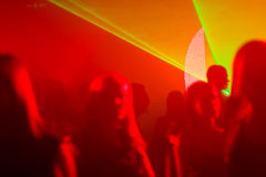 Dyskotek światła laseru Obraz Royalty Free