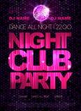 Dyskoteka plakat Noc klubu taniec ilustracji