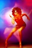 Dyskoteka tancerz Zdjęcia Royalty Free