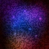Dyskoteka wektoru przyjęcia lekki tło Neonowego abstrakcjonistycznego połysk dyskoteki światła projekta wzoru cyfrowego techno ja ilustracji