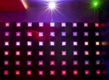 Dyskoteka z kolorowymi światłami obrazy stock