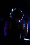 Dyskoteka zespołu perfoms przy BeCool sceną (zespół od Finlandia) Zdjęcie Royalty Free