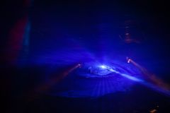 Dyskoteki światła przedstawienie, scen światła Zdjęcie Stock