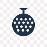 Dyskoteki Balowa wektorowa ikona odizolowywająca na przejrzystym tle, dyskoteka royalty ilustracja