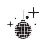 Dyskoteki ikony balowy wektor Błyszczący iluminujący simbol Zdjęcia Royalty Free