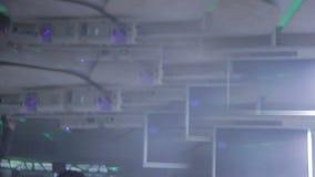 Dyskoteki iluminacja przy klubem nocnym, pijący punkt widzenia zbiory wideo