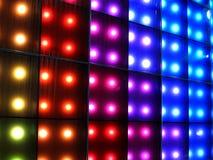 dyskoteki kolorowy oświetlenie Zdjęcia Royalty Free