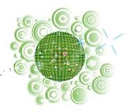 dyskoteki kuli ziemskiej zieleń Ilustracji