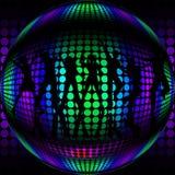 Dyskoteki piłka z sylwetka tancerzami Zdjęcia Royalty Free