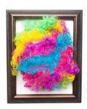 Dyskoteki tęczy Afro peruka Zdjęcie Royalty Free