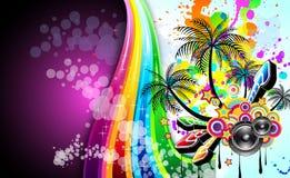 dyskoteki wydarzenia ulotki muzyka tropikalna ilustracja wektor