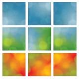 Dyskretny wektorowy tło Sezonowy temat Kwadratowy tło fo Obraz Royalty Free