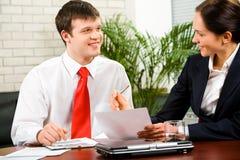 dyskusja biznes plan Obraz Stock