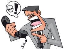 dyskusja biznesowy telefon ilustracja wektor