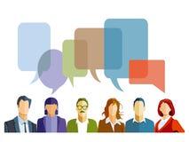Dyskusja w grupie ilustracja wektor
