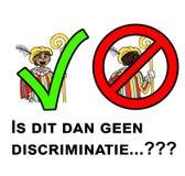 Dyskusja wokoło w ten sposób - nazwany Holender & x22; Zwarte Pieten& x22; ilustracja wektor
